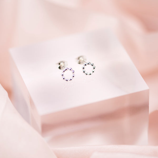 Handmade Sterling Silver Dotty Circle Earrings