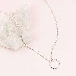 Sterling Silver Karma Necklace
