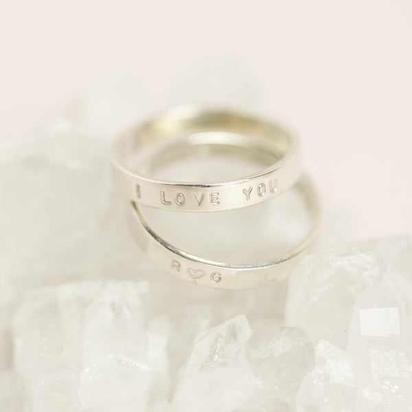 Handmade Sterling Silver Personalised Stacking Ring