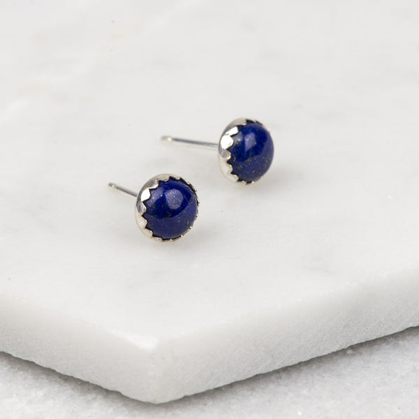 Lapis Lazuli - Handmade Sterling Silver Gemstone Earrings
