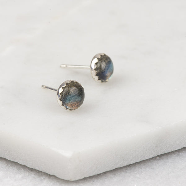 Labradorite - Handmade Sterling Silver Gemstone Earrings