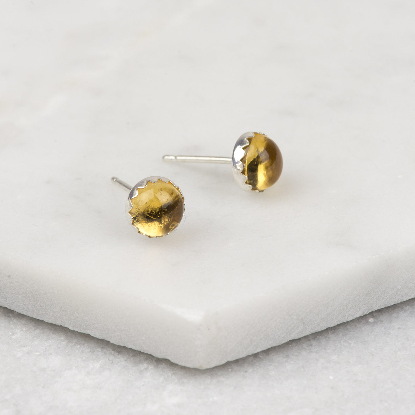 Citrine - Handmade Sterling Silver Gemstone Earrings