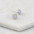 Blue Lace Agate - Handmade Sterling Silver Gemstone Earrings