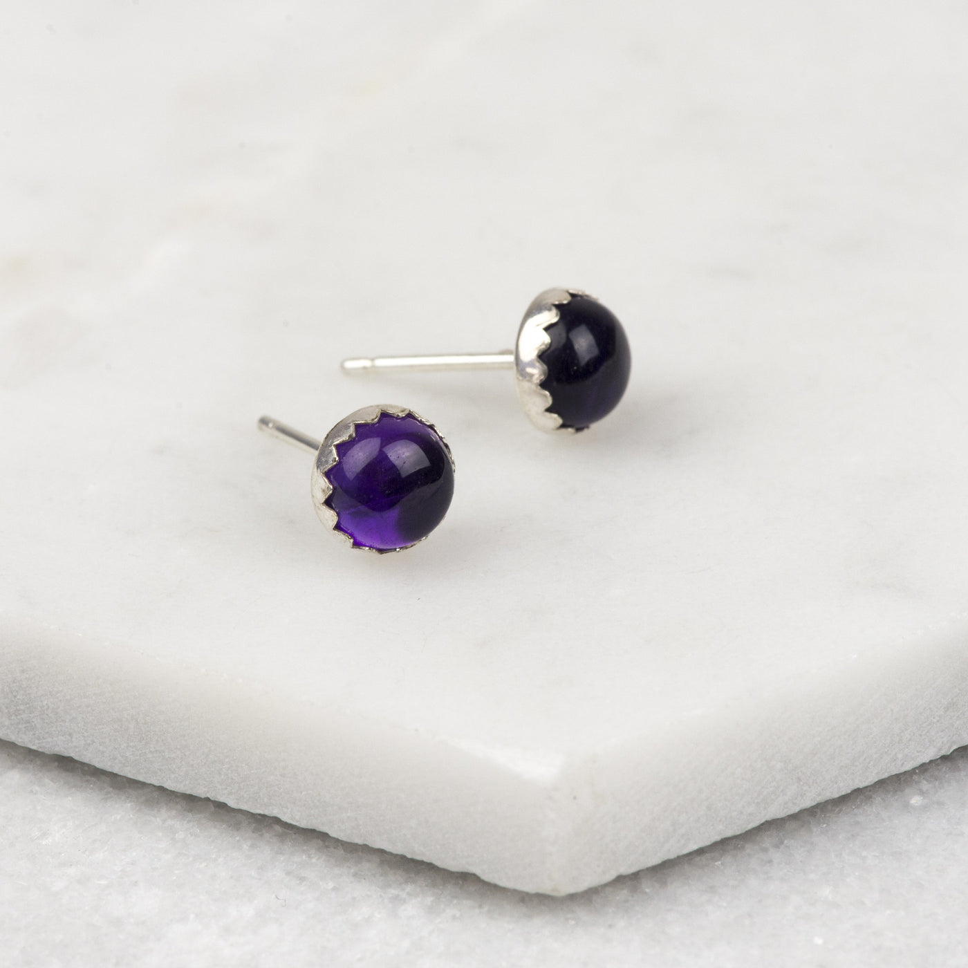 Amethyst - Handmade Sterling Silver Gemstone Earrings