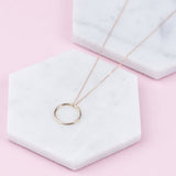 KARMA - HANDMADE SOLID 9 CARAT GOLD HALO NECKLACE