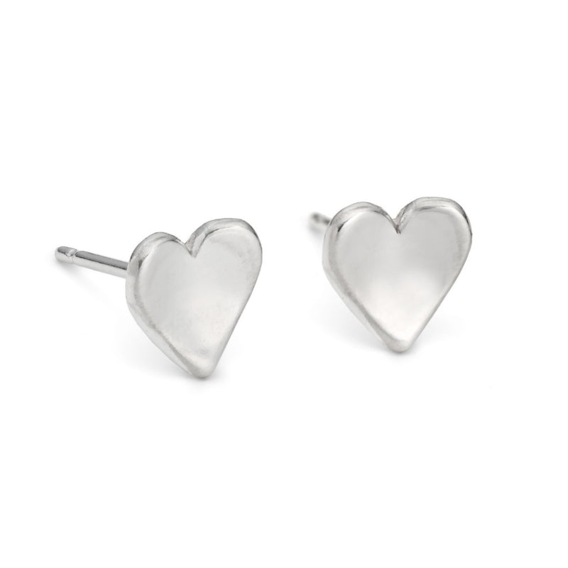 Concave Heart Studs