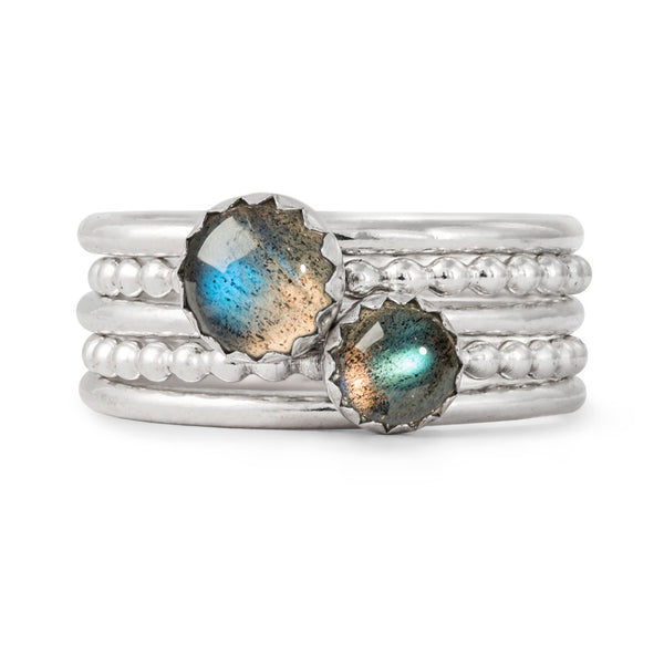 Labradorite Stacking Rings
