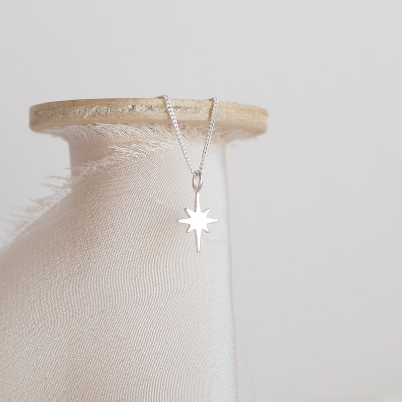HANDMADE STERLING SILVER NORTH STAR NECKLACE