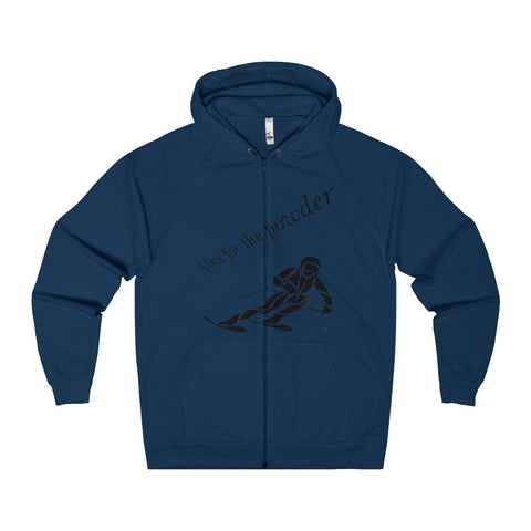 """I live for the Powder"" Skiing Zip Hoodie"