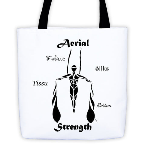 """Aeriel Strength""-FabricsTote bag"