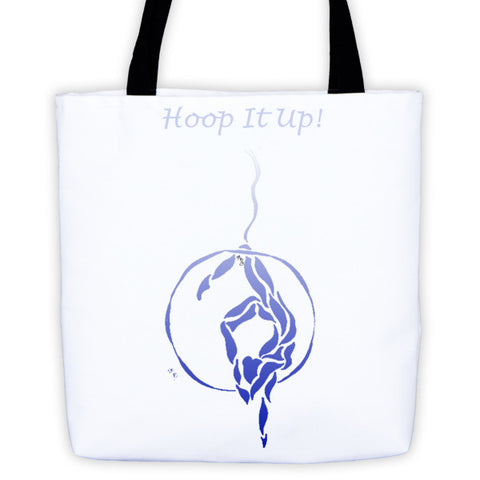 """Hoop it Up"" Fading BlueTote bag"