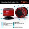 iF014 Waterproof Bluetooth Speaker & Shower Radio - Red & Black
