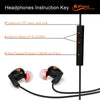 iFE4 In-Ear Wired Sports Earphones with Mic - Comfort Fit Design with Ear Hook and Volume Control