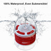 iF013 Bluetooth Shower Speaker - Red and White