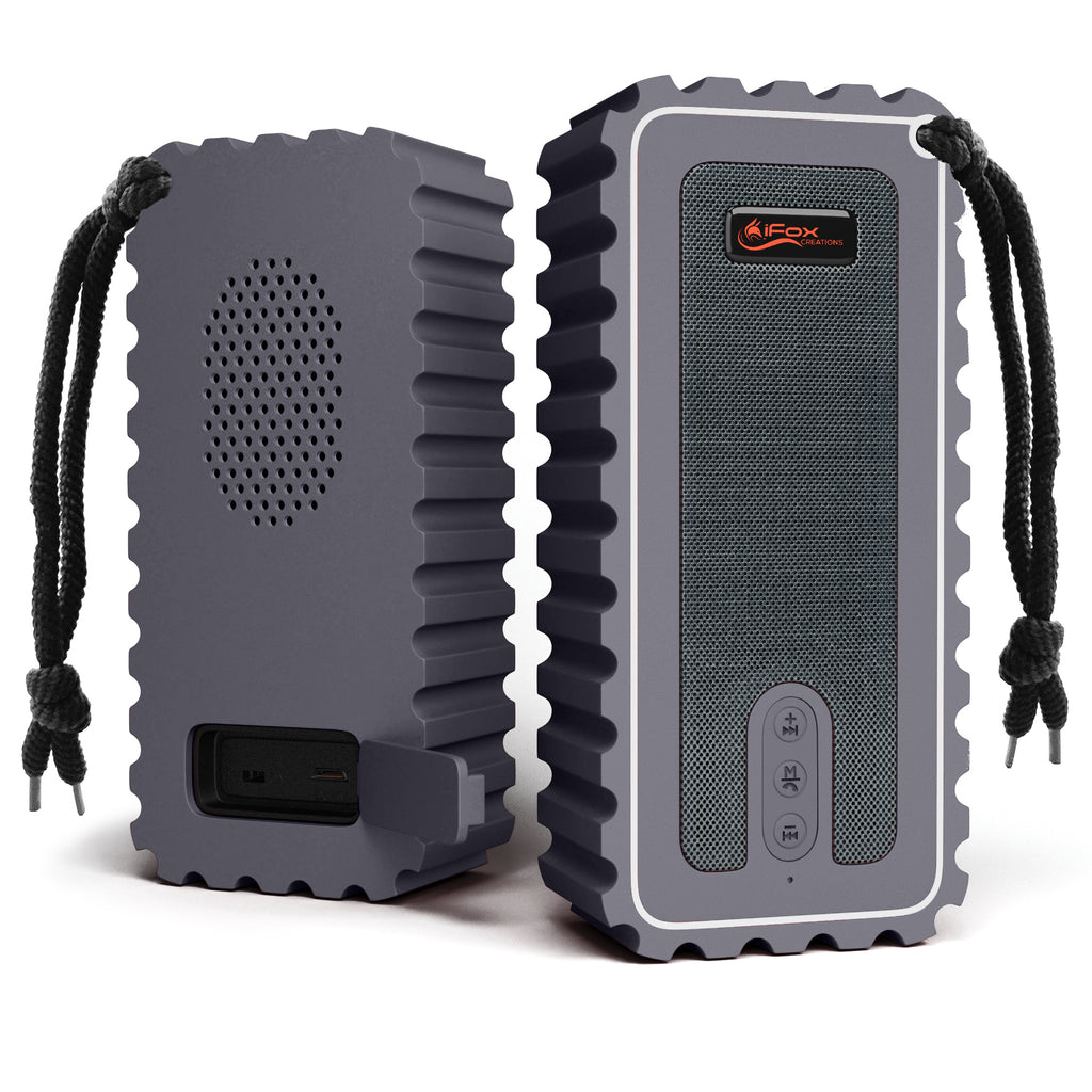 iF015 Waterproof Bluetooth Speaker with FM Radio - Grey