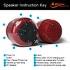iF019 Mini Bluetooth Speaker with FM Radio - Red