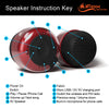 iF019 Mini Bluetooth Speaker with FM Radio - Red & Black