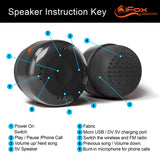 iF019 Mini Bluetooth Speaker with FM Radio - Grey