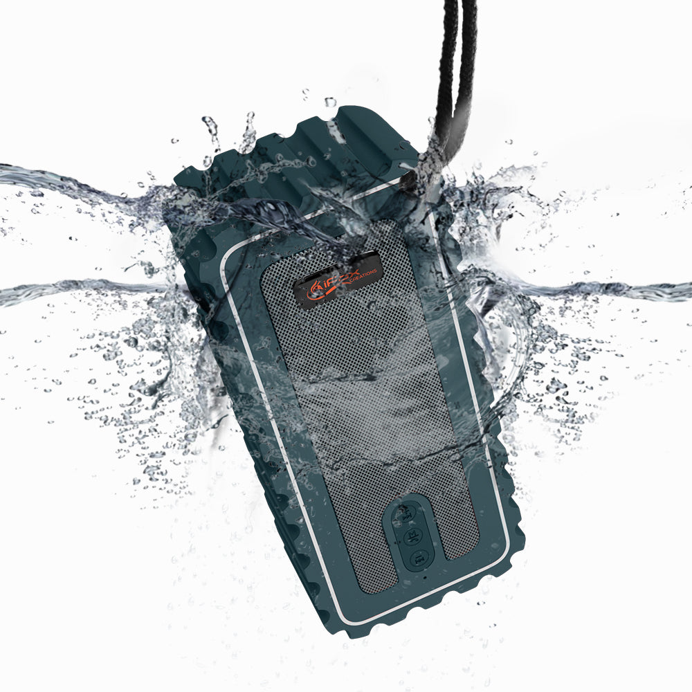 iF015 Waterproof Bluetooth Speaker with FM Radio - Green