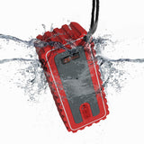 iF015 Waterproof Bluetooth Speaker with FM Radio - Red