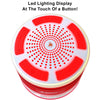 iF013 Bluetooth Shower Speaker - Certified Waterproof. Wireless Speakerphone Pairs To All Bluetooth Devices - iPhone, iPad, iPod, PC. FM Radio - RED & WHITE