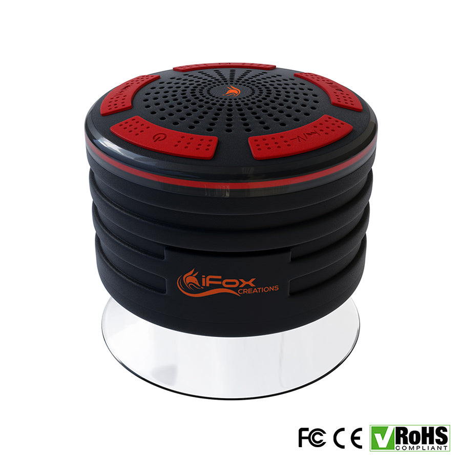 If013 Bluetooth Shower Speaker Black Ifox Creations