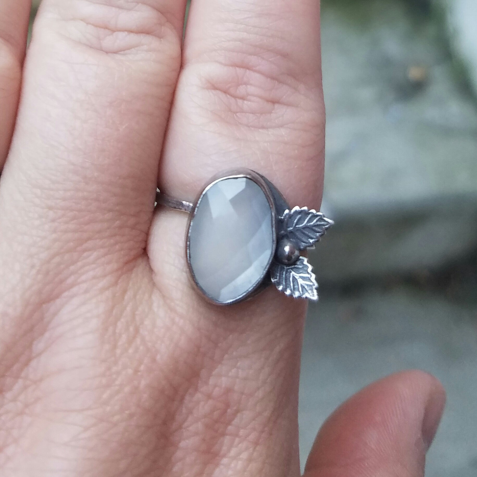 Leaf Peeper Moonstone Ring