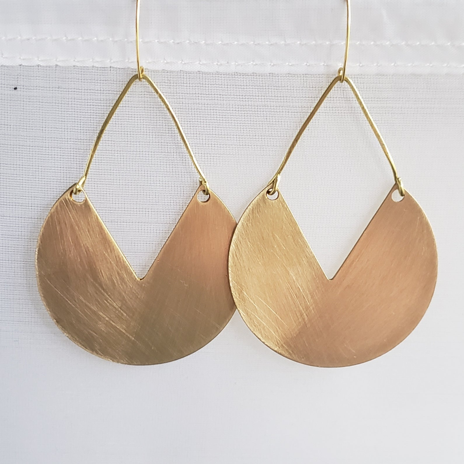 Bold Brushed Brass Big-Ass Earrings
