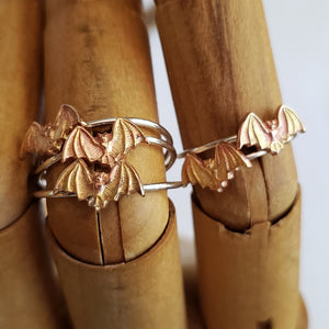 Sterling Stacking Ring with Copper Bat