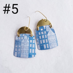 Trader Joe's Stroopwaffel Tin Collection  - Repurposed Vintage Tin Earrings