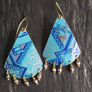 Teal Edgeworth Tin Collection - Earrings & Pendants