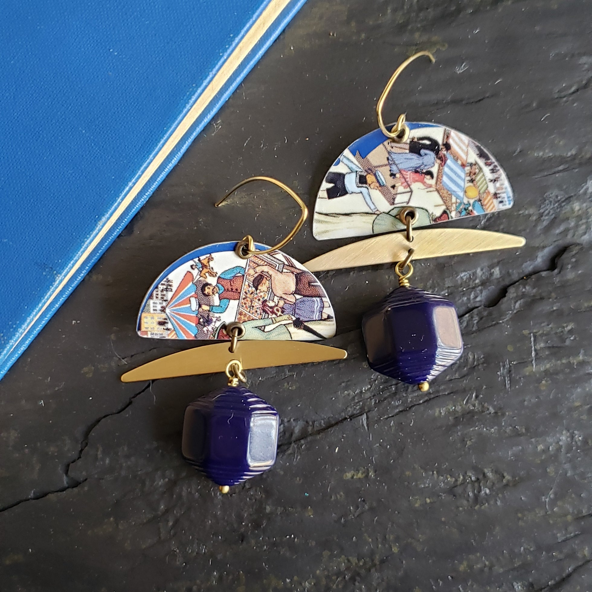 Blue Skies Spring Collection - Repurposed Tin Earrings