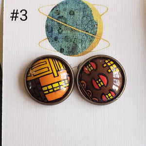 The Studs Collection- Repurposed Vintage Tin Earrings
