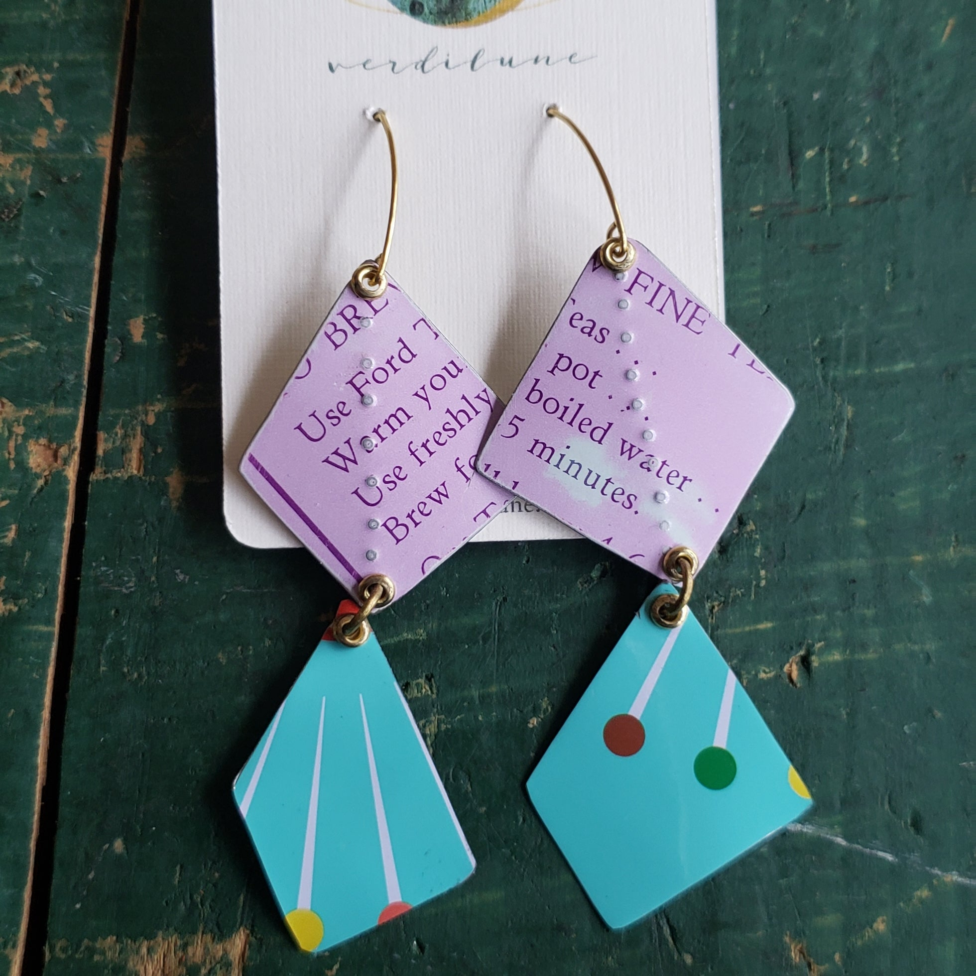 Mix Match Collection #1 - Repurposed Vintage Tin Earrings