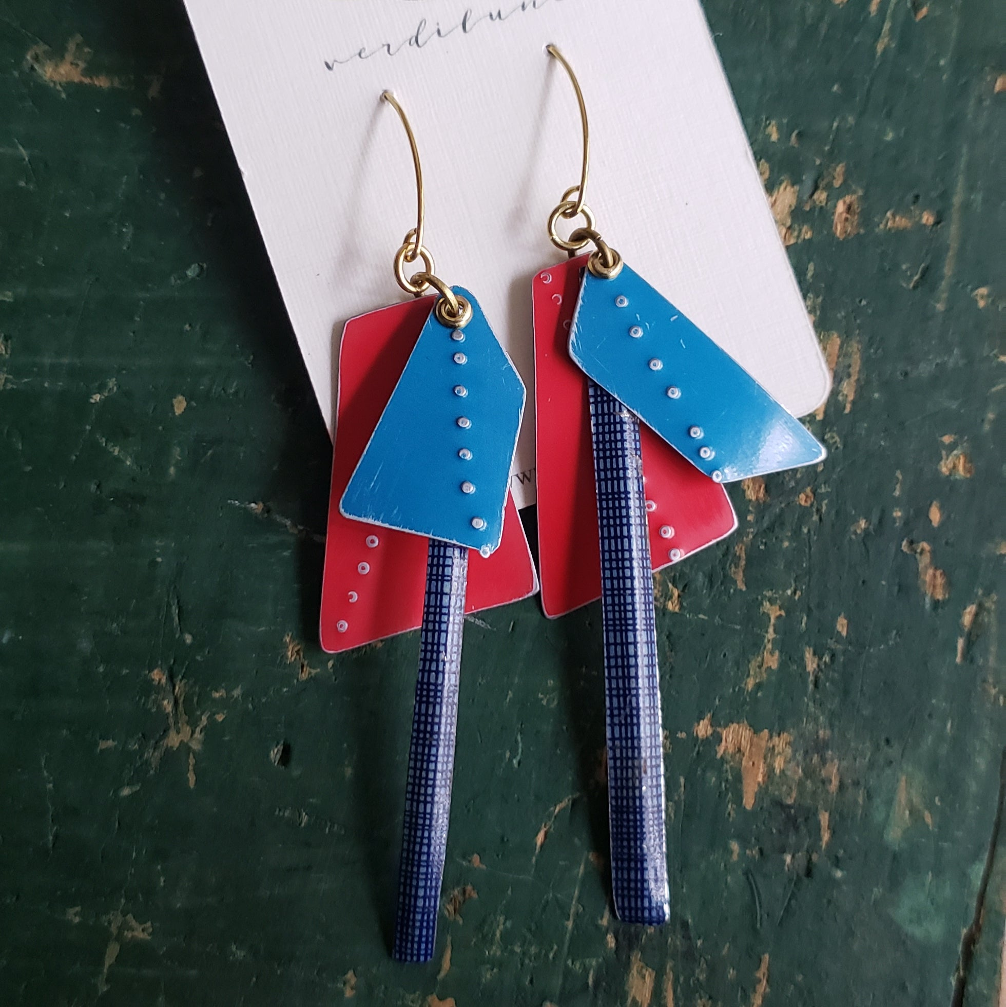 Mix Match Collection #3 - Repurposed Vintage Tin Earrings