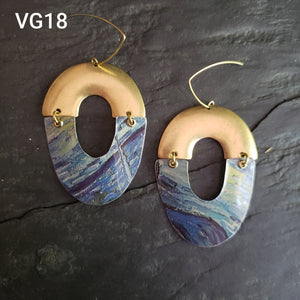 Van Gogh Starry Night Collection - Repurposed Tin Earrings