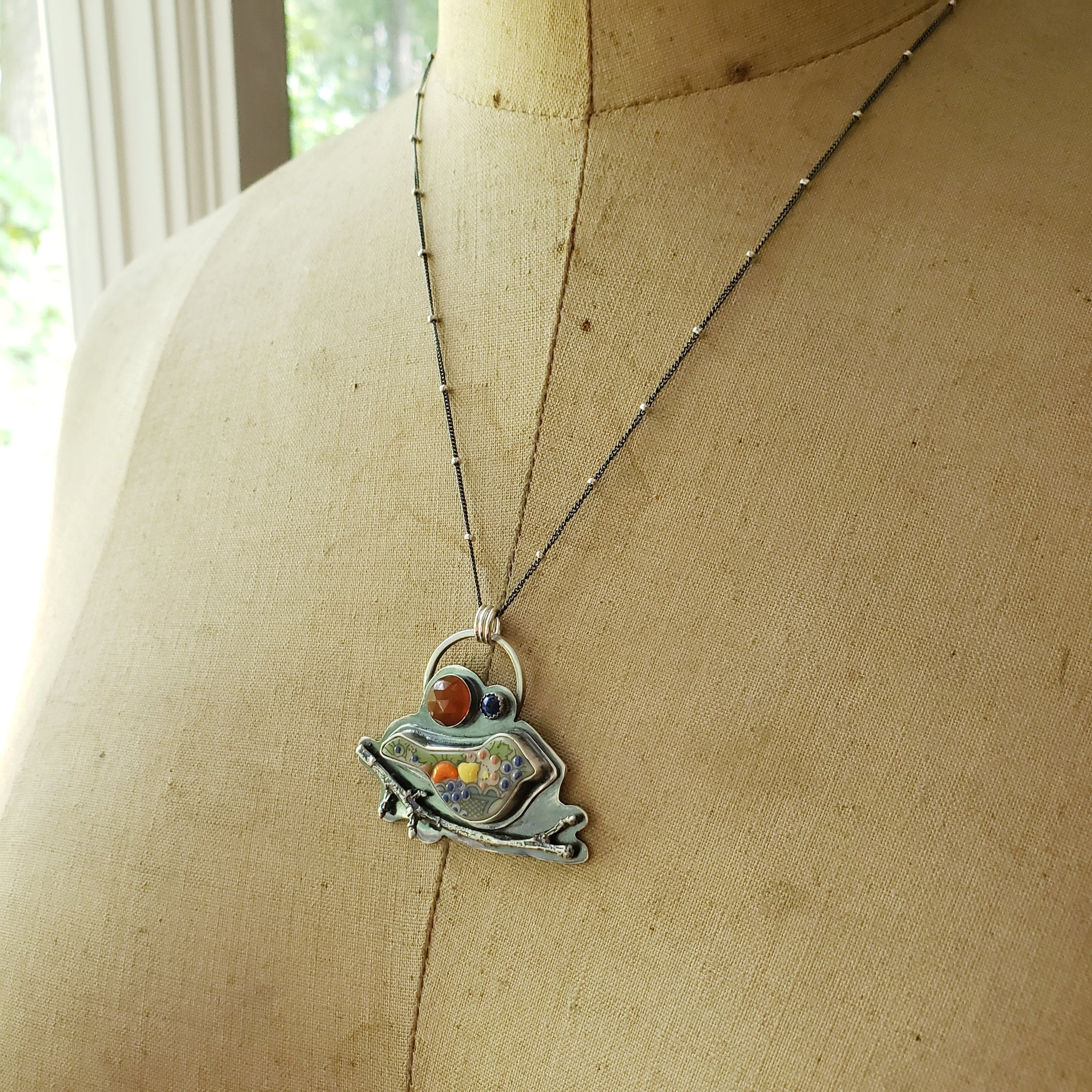 Beautifully Broken Birdie Pendant Collection - Upcycled Lenox China in Sterling Silver
