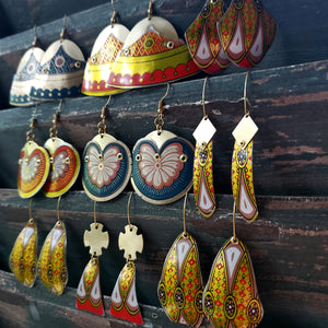 Moroccan Spice Collection - Repurposed Vintage Tin Earrings