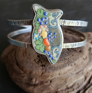 Autumnal Owl Cuff Bracelet in Sterling Silver