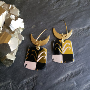 Retro Modern Astro Wheat Collection - Repurposed Vintage Tin Jewelry