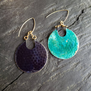 Verdigris Patina Double-Sided Earrings