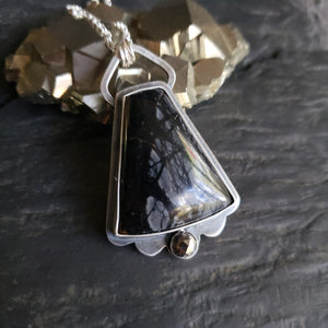 Darkness Collection - Picasso Marble Gothic Pendants in Sterling Silver