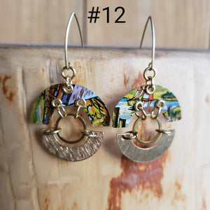 The Countryside in Fall Collection - Repurposed Tin Earrings