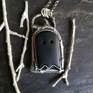 The Haunted Thicket Ghost Pendant in Sterling Silver