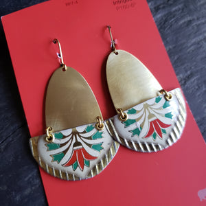 Art Deco Holiday Collection - Repurposed Tin Earrings