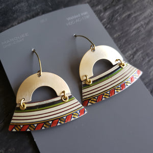 Reindeer & Doves Holiday Collection - Repurposed Tin Earrings
