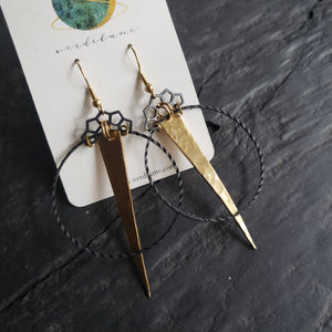 Elemental Metals Collection ◇Wavelength◇ Celestially-Inspired Brass Earrings