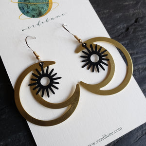Elemental Metals Collection ◇Orbit◇ Celestially-Inspired Brass Earrings