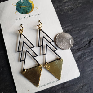 Elemental Metals Collection ◇Zenith◇ Celestially-Inspired Brass Earrings