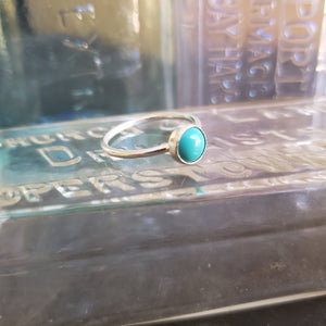 Sterling Silver Gemstone Stacking Ring